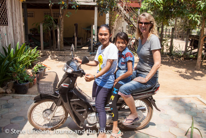 On the back of a motorbike - Khmer-style
