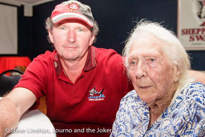 Steve and Grandma at Grandma's 100th birthday