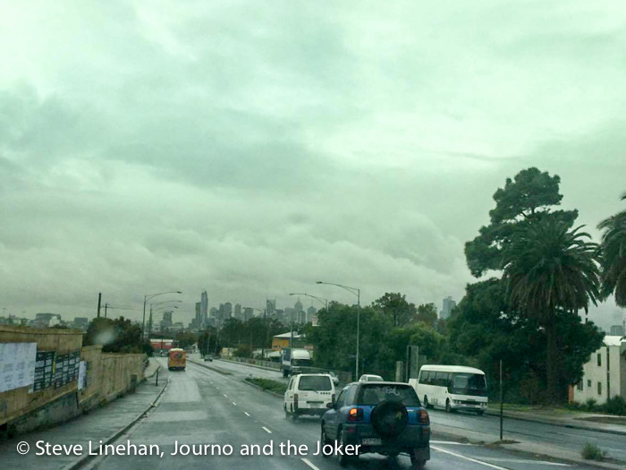 Wet Melbourne roads