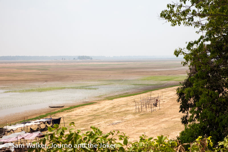 Low water levels at West Baray near Siem Reap