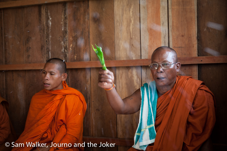 Monks bless VBC's 100th house
