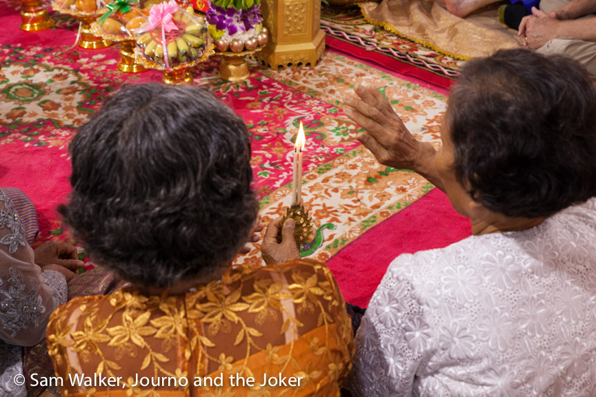 Khmer traditional wedding candle ceremony