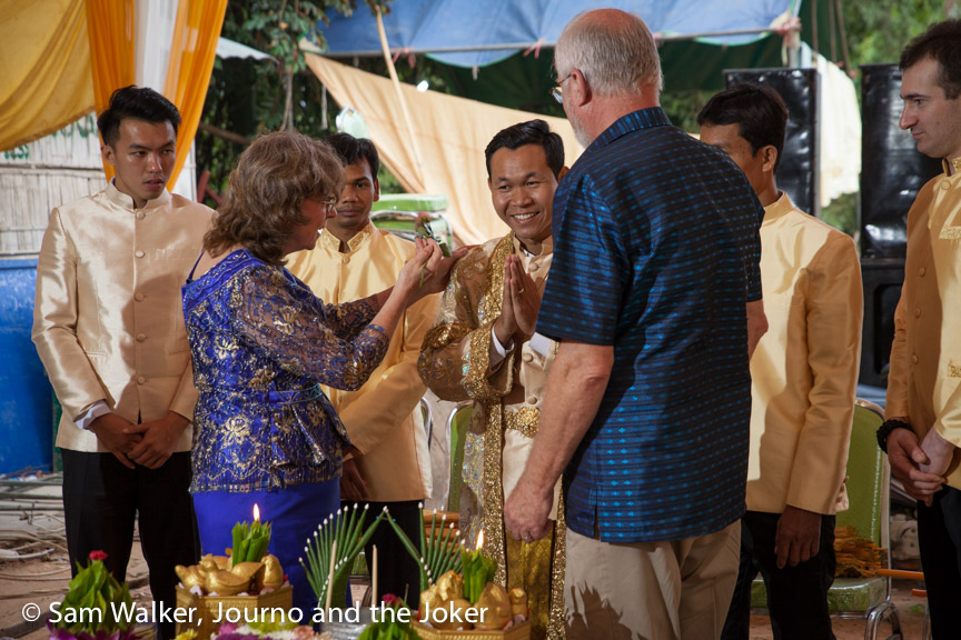 Cambodian wedding - sunrise ceremony
