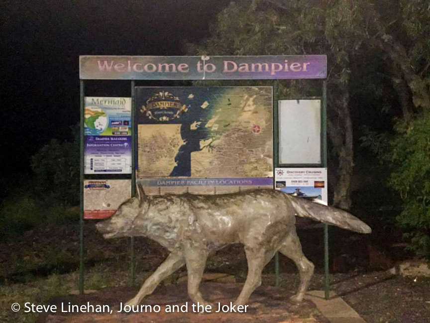 Red Dog statue at Dampier, Western Australia