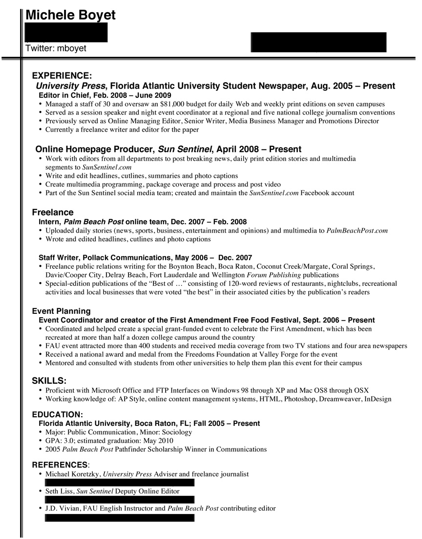 Good Skills To Write On Resume 7 Mistakes That Doom A College Journalist S Resume Journoterrorist