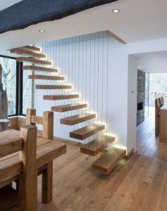 """Ns. """"floating stairs"""" - ei ihan samanlaiset kuin mitä olemme itse ajatelleet, but you get the idea...Kuvalähde Pinterest."""