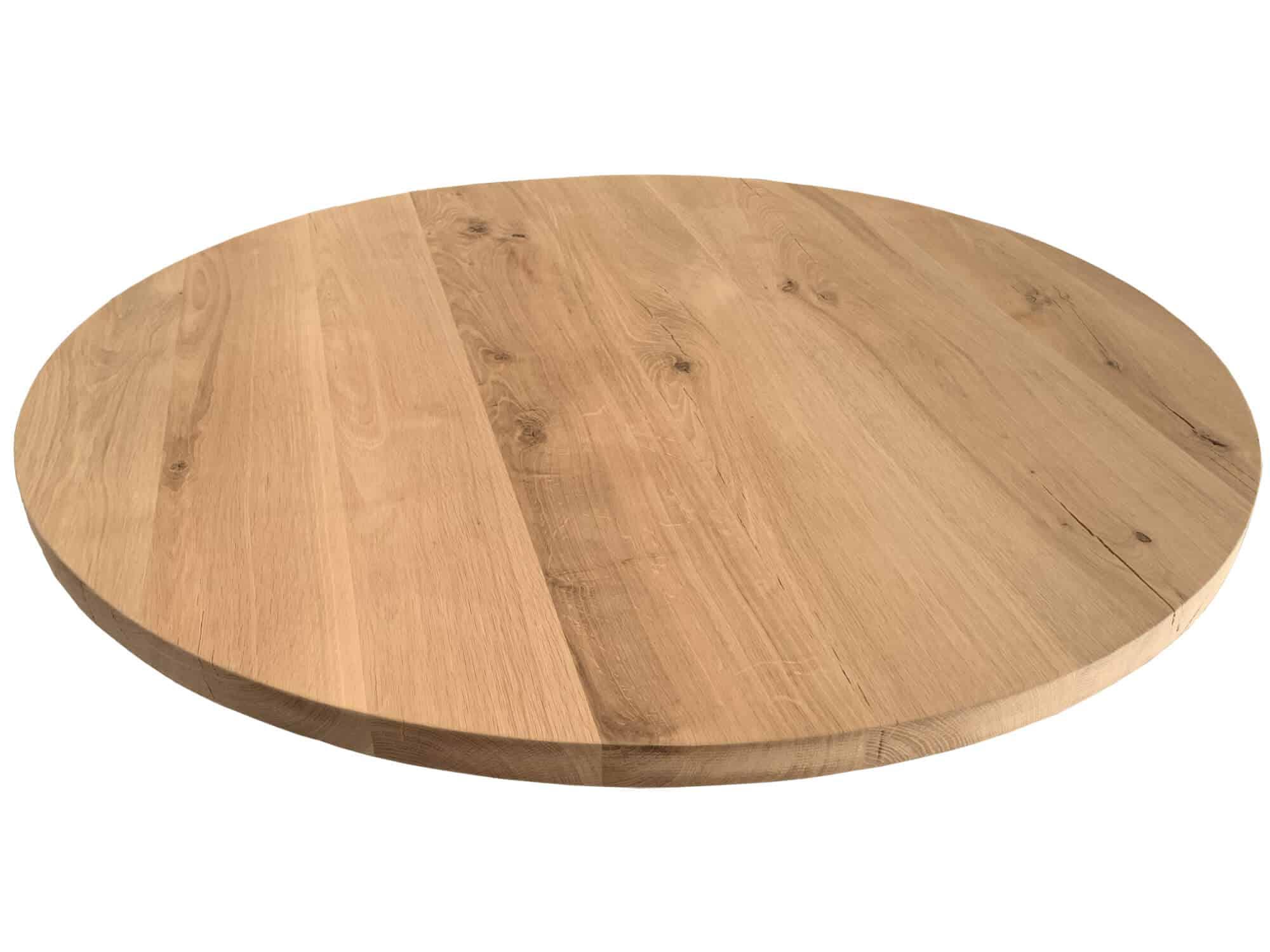 Rond eiken tafelblad