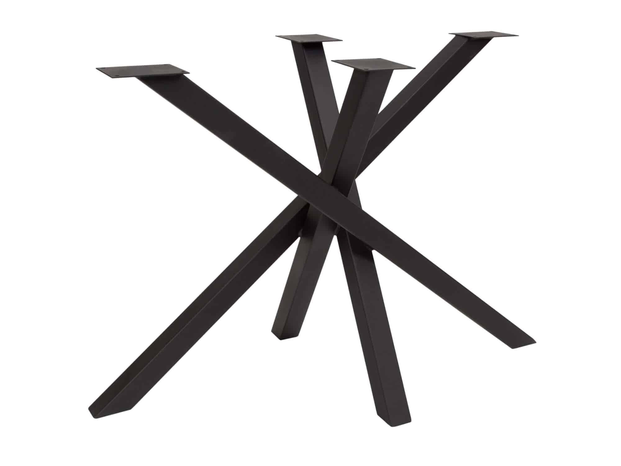 Elegante spinpoot in mart zwart - P3015
