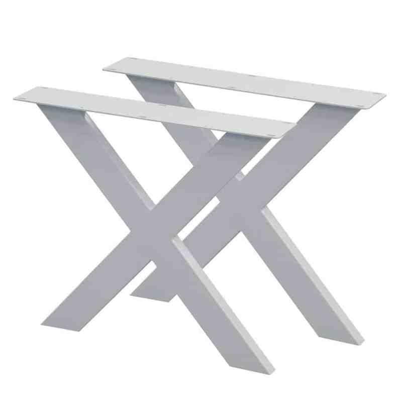 witte x tafelpoot 72 cm set 2 stuks