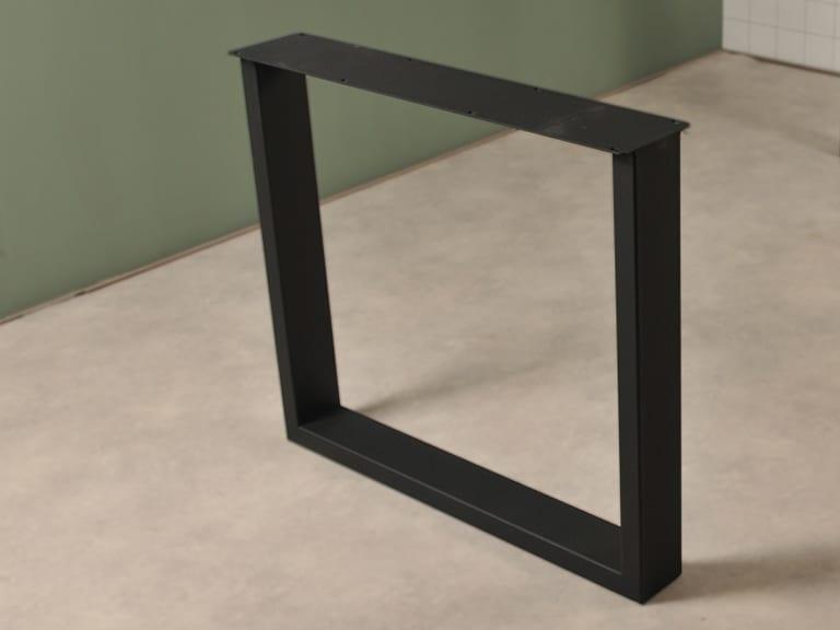 Elegante U poot in het zwart detail foto