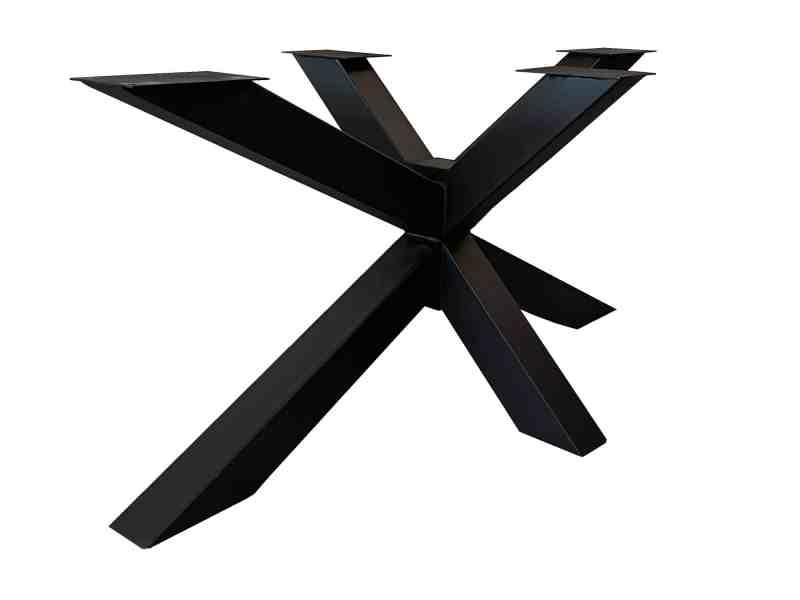 Mat zwart gepoedercoate spinpoot 160 cm