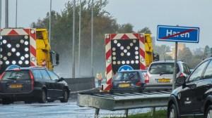 groningen-haren-a28-ongevallen zware regenval-2