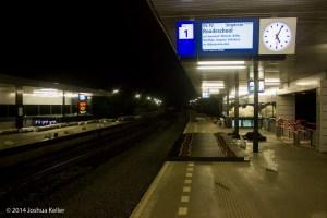 tijdelijk geen rails dus geen trein