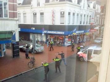 politie getrokken pistolen