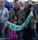 nederland 2015, groningen, centrum, vluchtelingen welkom, grote markt
