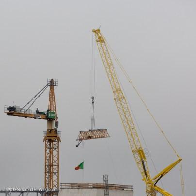 afbreken gele bouwkraan-2253