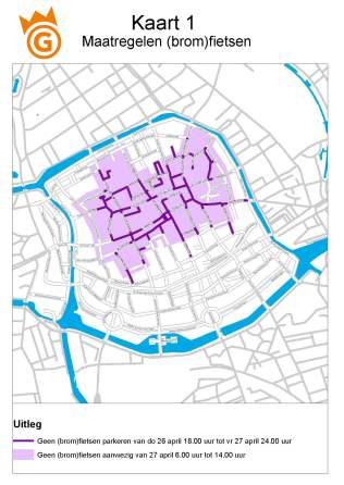 Kaart 1 maatregelen fietsen
