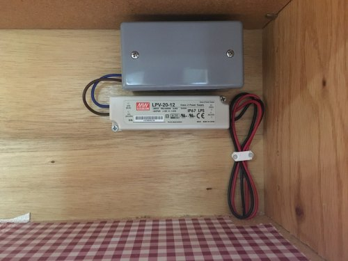 small resolution of junction box for the electrical connection between house power and a low voltage transformer
