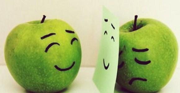 feliz-fruta-maca-papel-triste-verde-Favim.com-78641