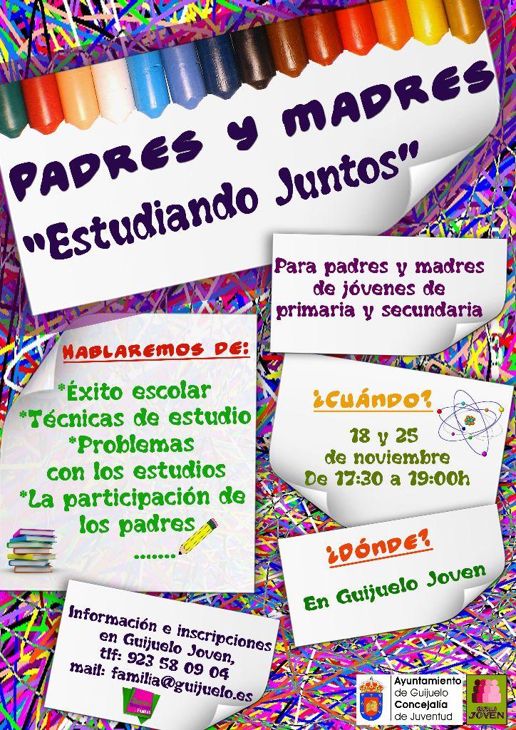 ltimas plazas taller para madres y padres Estudiando Juntos  Guijuelo Joven