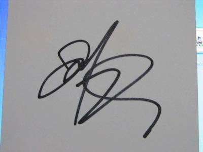 Josh Radnor's autograph