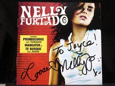 Nelly Furtado's autograph