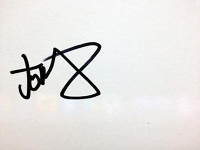 Jonny Quinn's autograph
