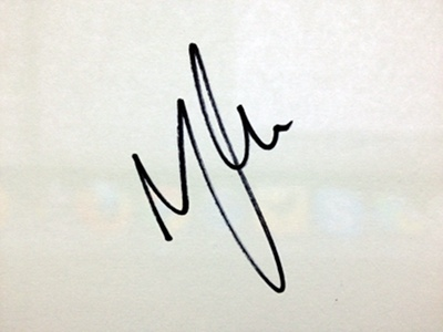 Nathan Connolly's autograph