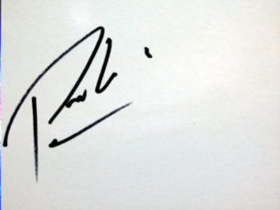 """Paul """"Pablo"""" Wilson's autograph"""