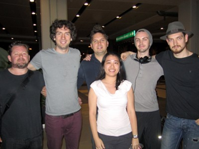 Snow Patrol (L-R): Tom, Gary, Jonny, Pablo, Nathan