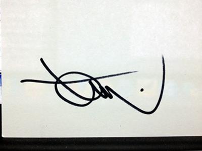Tom Simpson's autograph
