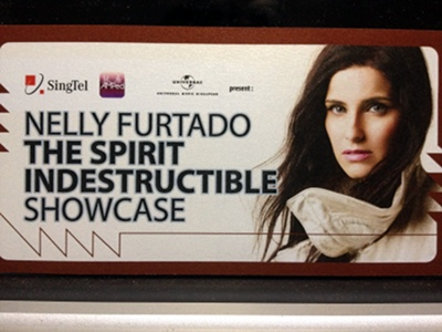 Nelly Furtado showcase ticket