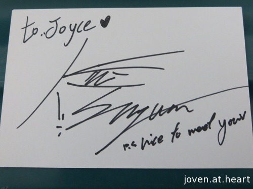 Sungwon A-Prince autograph