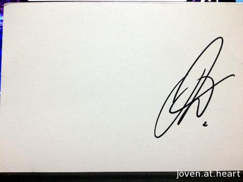 Joel's autograph