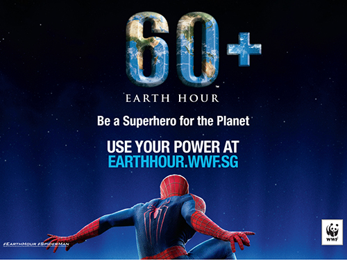 Spiderman Cast for Earth Hour Singapore 2014