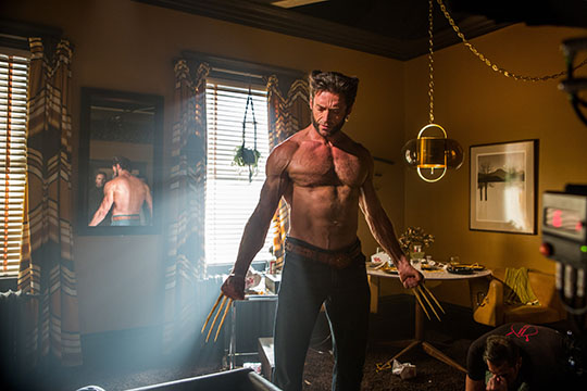 Hugh Jackman as Wolverine in X-men: Days of Future Past