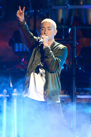 Eminem at the 2014 MTV Movie Awards [© MTV/Kevin Mazur]