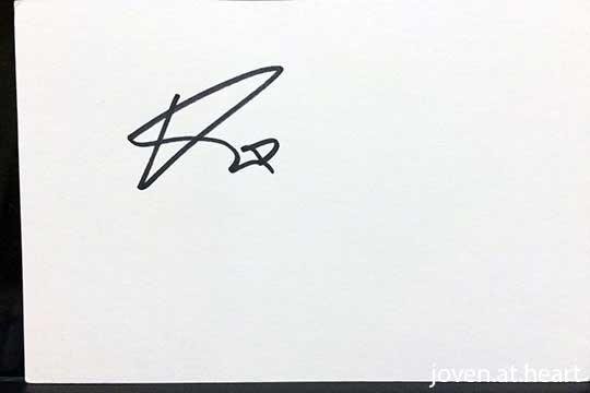 Rupert Friend autograph