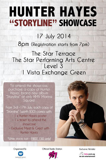Hunter Hayes 2014 Singapore Showcase