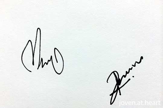 Trick autograph