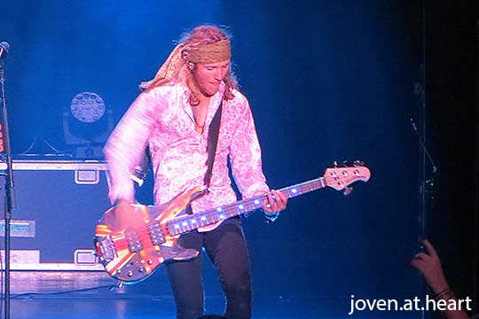 Dougie Poynter of McBusted live in Palais Theatre, Melbourne 2015