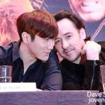 Super Junior Choi Siwon and John Cusack @ Dragon Blade Press Conference, Singapore 2015