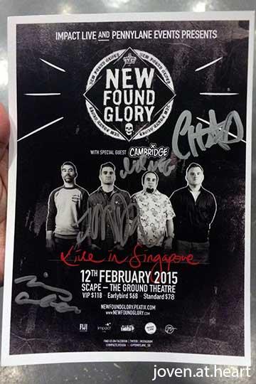 New Found Glory autograph
