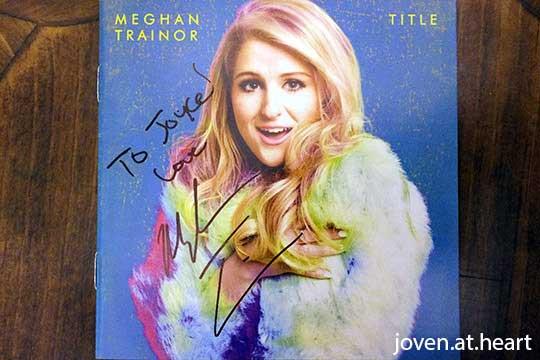 Meghan Trainor autograph