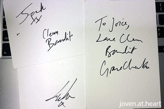 Clean Bandit autograph