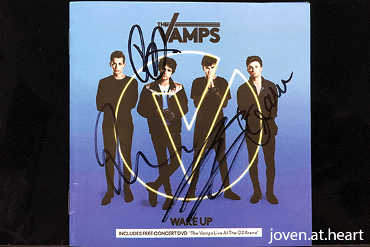"Autographed The Vamps ""Wake Up"" Album"