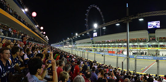 Fans will be seated at the Pit Grandstand across the Red Bull Racing garage