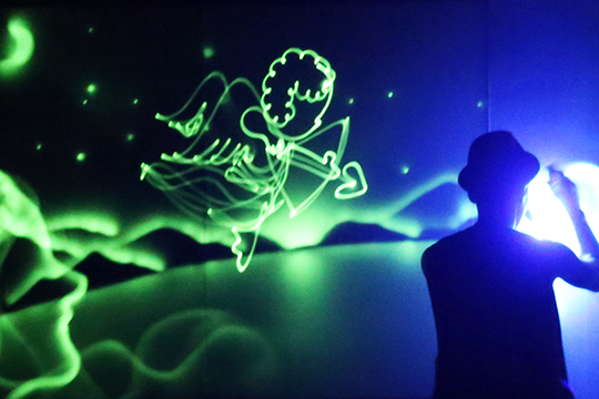 Spectacular cupid Light Drawing