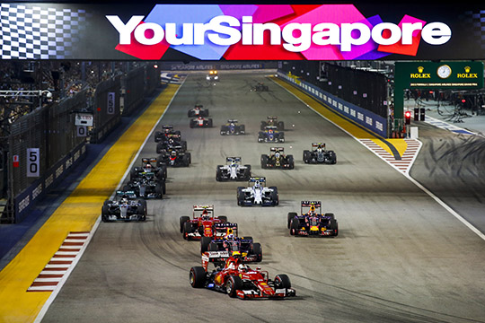 Marina Bay Circuit, Singapore. [photo © Singapore GP. Steven Tee/LAT Photographic.]