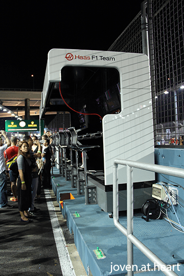 Haas Pit Wall
